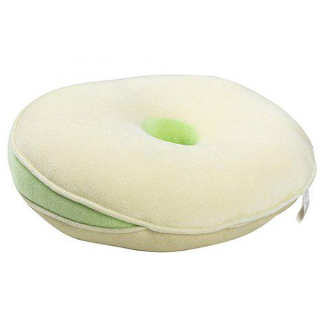 Slow Rebound Home Cushion Pillow - GREEN YELLOW