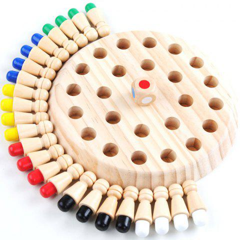 Game Children's Early Learning Educational Toys Board Memory Chess - BURLYWOOD