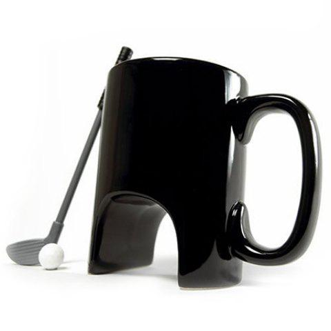 Creative Golf Ceramic Mini Cup - BLACK