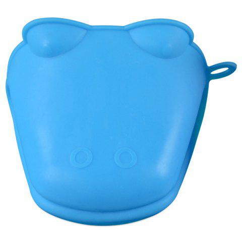 Animal Shaped Silicone Hippo Microwave Insulated Gloves - DODGER BLUE