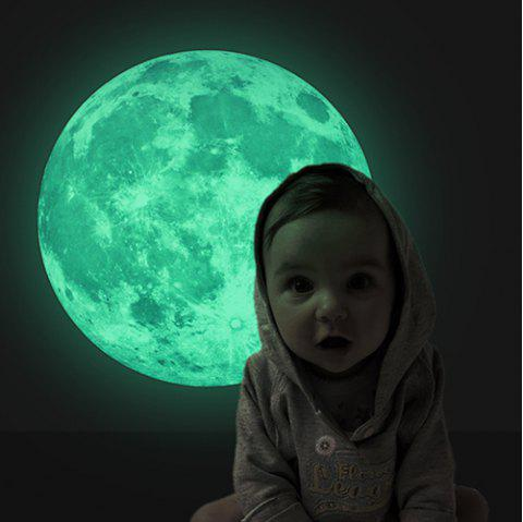 Luminous Moon Bedroom Children's Room 30cm Light Sticker - multicolor