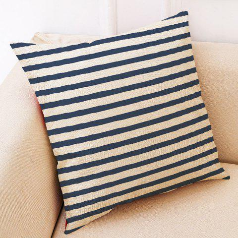 Creative Geometric Cotton Pillowcase - PEACOCK BLUE 04
