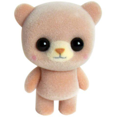 Animal Ornaments Plush Cute Pet Flocking Doll Toy - BROWN SUGAR