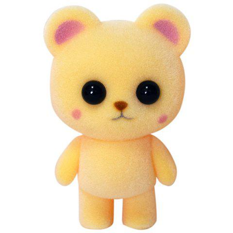 Animal Ornaments Plush Cute Pet Flocking Doll Toy - SUN YELLOW