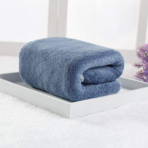 Double-sided Coral Fleece Microfiber Towel - SLATE BLUE