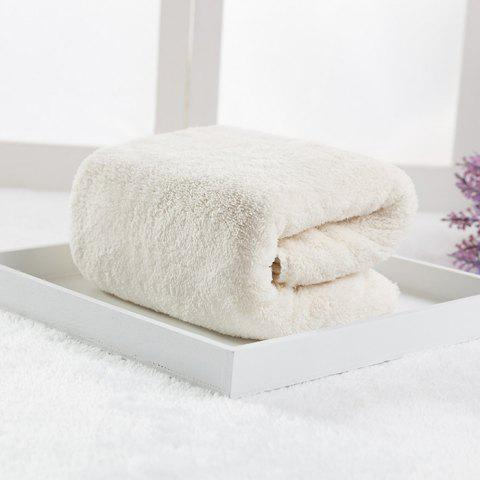 Double-sided Coral Fleece Microfiber Towel - WHITE