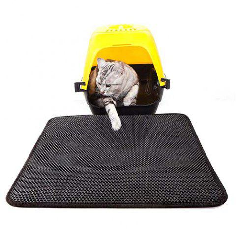 Scratch Pad Double Layer Cat Litter Mat - BLACK 50X40CM