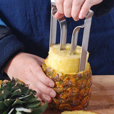 Stainless Steel Durable Sharp Convenient Pineapple Core Remover - SILVER