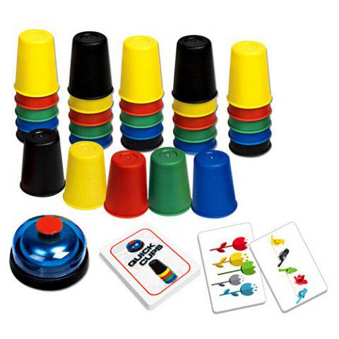 Children's Puzzle Board Games Quick Hands Stack Cup Game Early Learning Interactive Toys - multicolor A