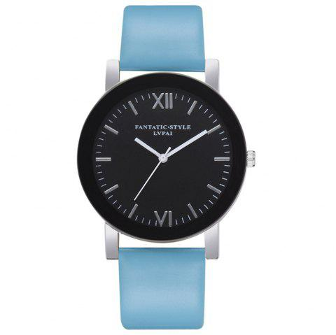 lvpai p682 Exquisite Scale Roman Numeral Timetable Quartz Watch - SKY BLUE