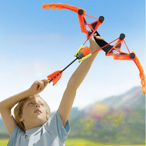 Child Safety Whistle Stretch Soft Sucker Outdoor Indoor Shooting Bow Arrow Toy - ORANGE