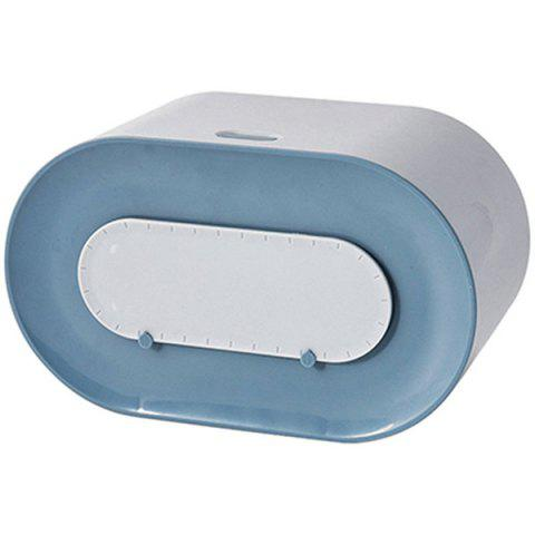 Push-button Three-wall Wall-mounted Dustproof Tissue Box - BLUE 1PC