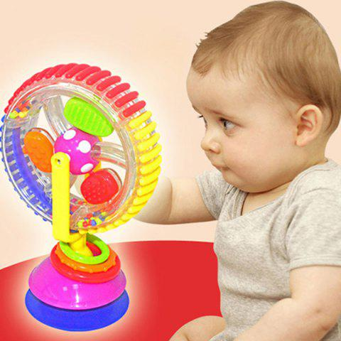 Three-color Rotating Ferris Wheel Multi-functional Baby Windmill Toy - multicolor