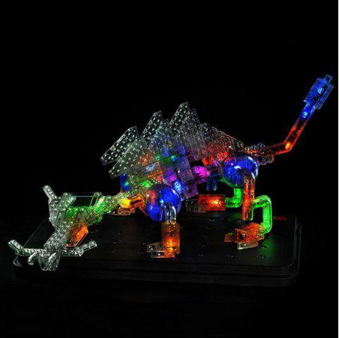 57 In 1 Laser Pie 3D Stereo Model Luminous Efficiency Circuit Science Experiment Inserting Blocks Children Toys - multicolor
