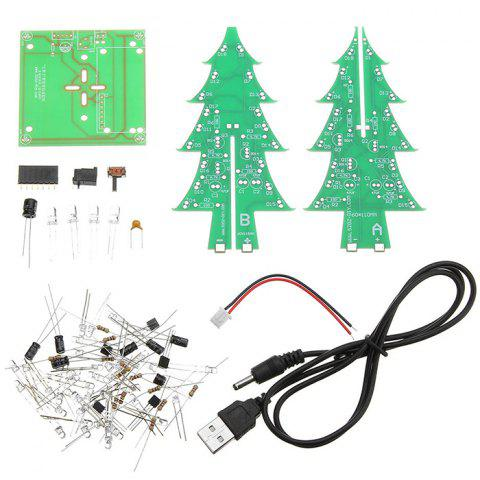 LEBANGSHOU Upgrade Version DIY Colorful Christmas Tree Electronic Production Kit And Power Cord - multicolor A