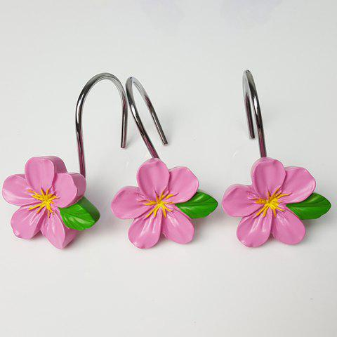 Resin Flower Hook 12pcs - PINK