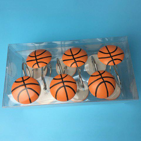 Crochet de basketball décoration créative 12pcs - Rouille