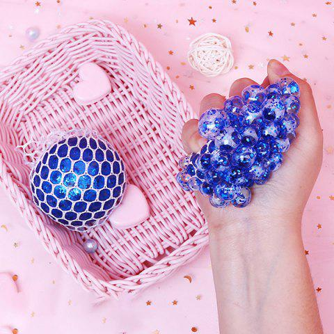 Creative Vent Decompression Luminescent Grape Ball Squishy Toy Crystal Beads - COBALT BLUE