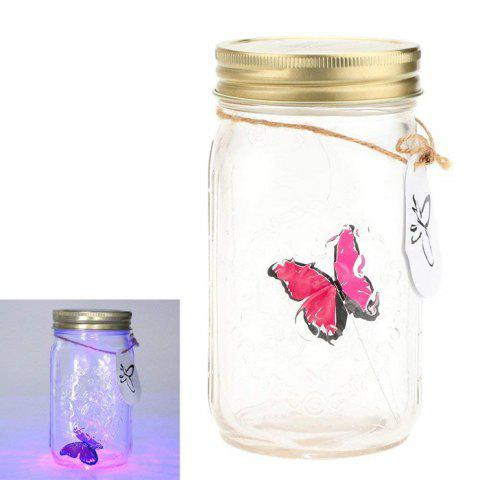 ZML - 290 Beautiful Simulated Can Fly Butterfly Can with Light - ROSE RED