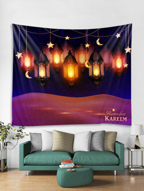 Lanterns Print Tapestry Wall Hanging Art Decoration - multicolor W79 X L71 INCH