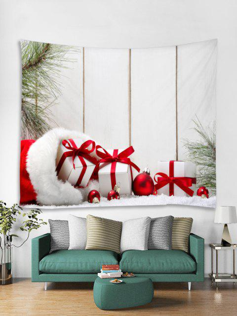 Christmas Gifts Print Tapestry Wall Hanging Art Decoration - WHITE W91 X L71 INCH