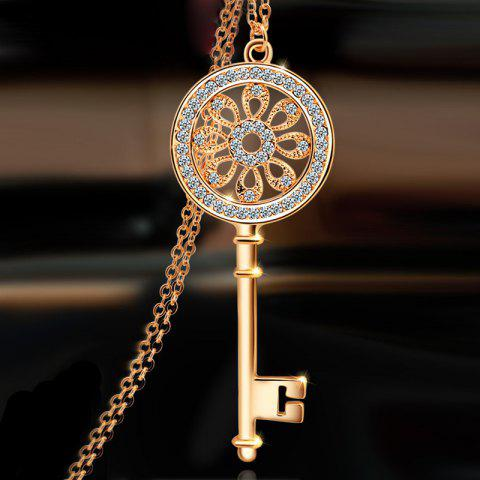 MY - 0005 Key Sweater Chain - CHAMPAGNE GOLD