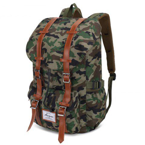 AUGUR Men Leisure Outdoor Large Capacity Backpack - WOODLAND CAMOUFLAGE