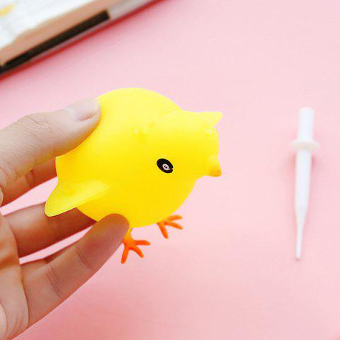Blowable Animal Vent Toy Hippo Chick Elephant Pinch Decompression Gadgets - YELLOW