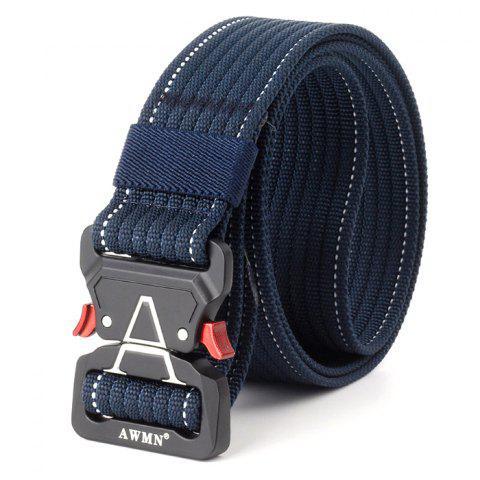 Quick Release Buckle Cobra Belt 125cm - NAVY BLUE