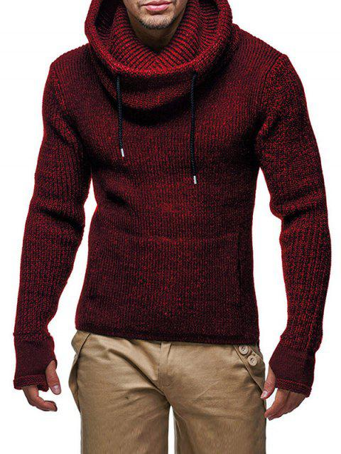 M8 Men Personalized High Neck Thicken Sweater - RED WINE XL