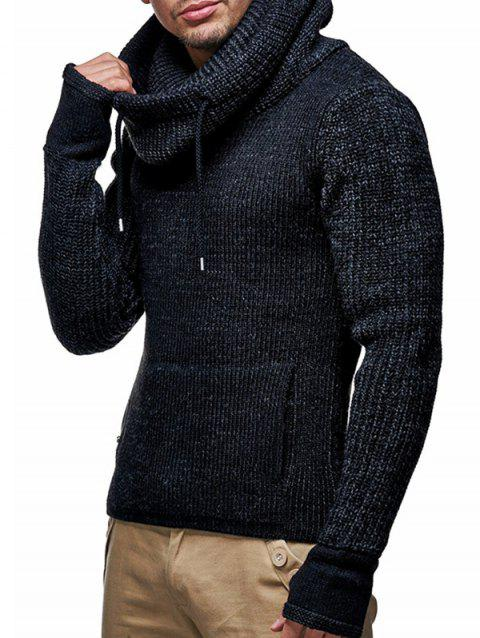 M8 Men Personalized High Neck Thicken Sweater - BLACK XL