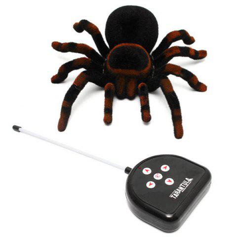 4CH Realistic RC Spider Tarantula Scary Toys Prank Holiday Gift Model - multicolor