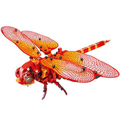 DIY Simulation Insect Hand Dragonfly Model Building Blocks 330pcs - RED