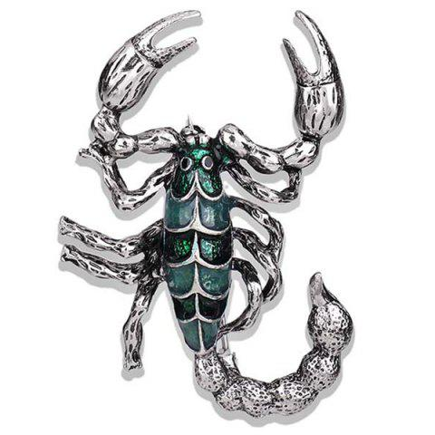 Personnalité Creative Drop Oil Scorpion Broche en alliage rétro - Vert Pin