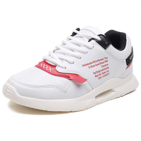Breathable Casual Sneaker - WHITE EU 41