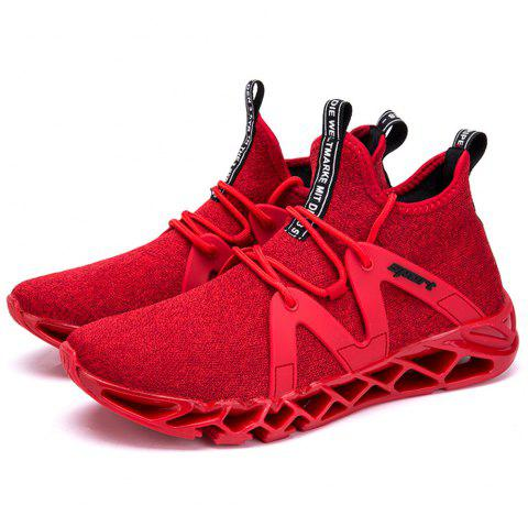 Men's Fashionable Casual Sports Shoes Sneakers - RED EU 39