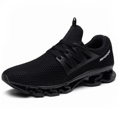 Fashionable Leisure Men Sneaker Male Sports Shoes - BLACK EU 42