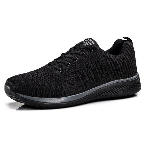 Men Outdoor Air Mesh Leisure Sports Shoes - BLACK EU 44