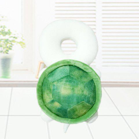Turtle Head Child Safety Protection Baby Head Anti-fall Pillow - GREEN ONION