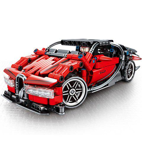 701401 Mechanical Password Series Racing Car Building Blocks Toy for Kids 422pcs - RED