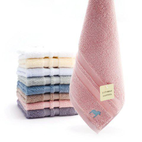 Egyptian Thickened Pure Cotton Towel - multicolor C