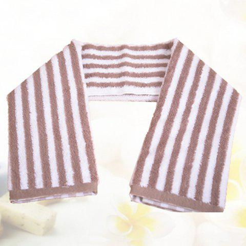 Good Striped Japanese Cotton Elegant and Unprinted Bath Towel - COFFEE 70X140CM