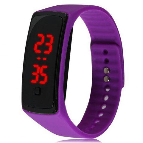 V5 Fashion LED Digital Watch Children Silicone Wristwatch - PURPLE