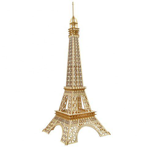 DIY Handmade Puzzle Paris Tower 3D Wooden Model - BURLYWOOD