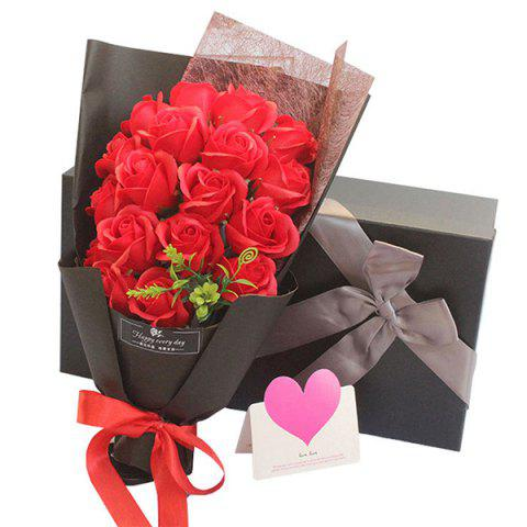 Fragrant Valentine's Day Rose Bouquet Gift Box - RED 36*18*10CM