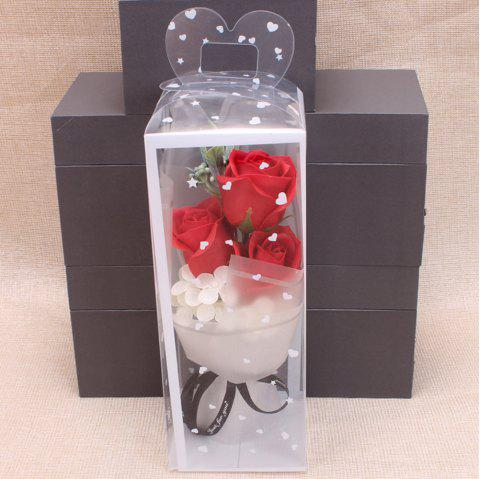 Valentine's Day Soap Roses 3pcs - ROSSO RED 10*10*25CM