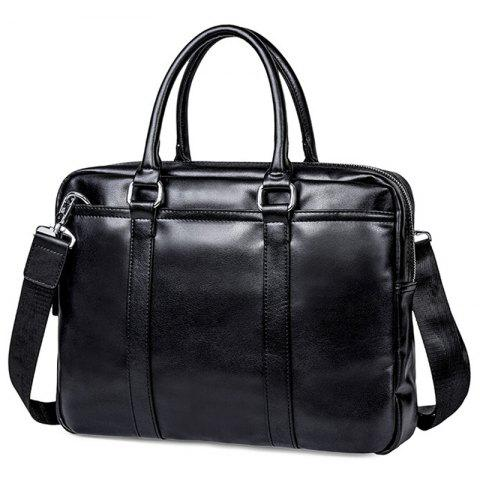 Fashion Youth Men's Briefcase - BLACK