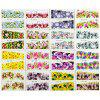 Nail Sticker Watermark Manicure Art Nature Fresh Flower Pattern 48pcs - multicolor A
