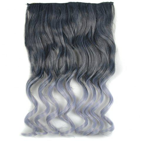 Extension Piece Color Gradient Big Wave Long Curly Five Clip Seamless Hair - BATTLESHIP GRAY