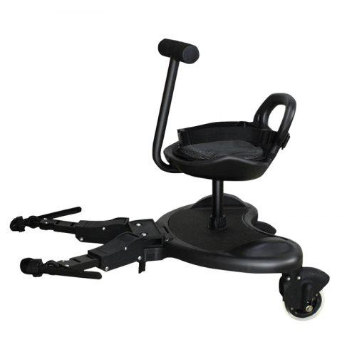 YOYAplus 2 in 1 2 Kids Baby Stand Balance Scooter - BLACK